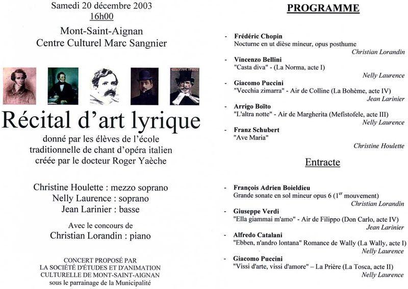 Concert Déc.2003