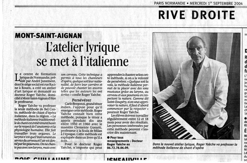 Conf. Stés Savantes Paris-Normandie septembre 2004